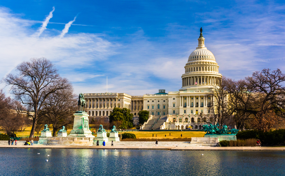 The Capitol and Reflecting Pool in Washington, DC.-1
